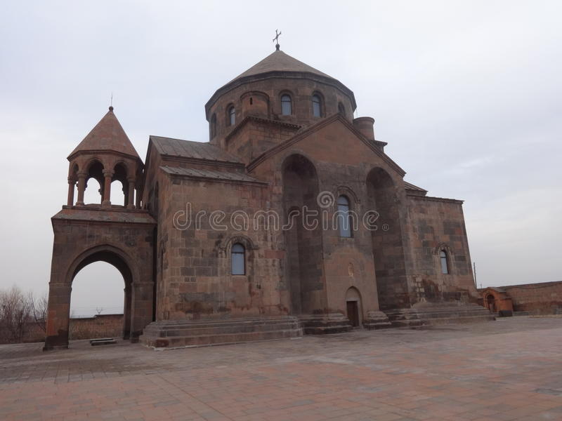 Trip through Armenia. Saint Hripsime Church is a seventh century Armenian Apostolic church in the city of Vagharshapat Etchmiadzin, Armenia. It is one of the royalty free stock photo