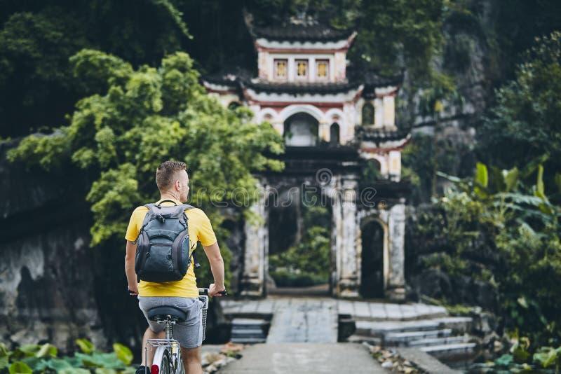 Trip by bike in Vietnam royalty free stock image