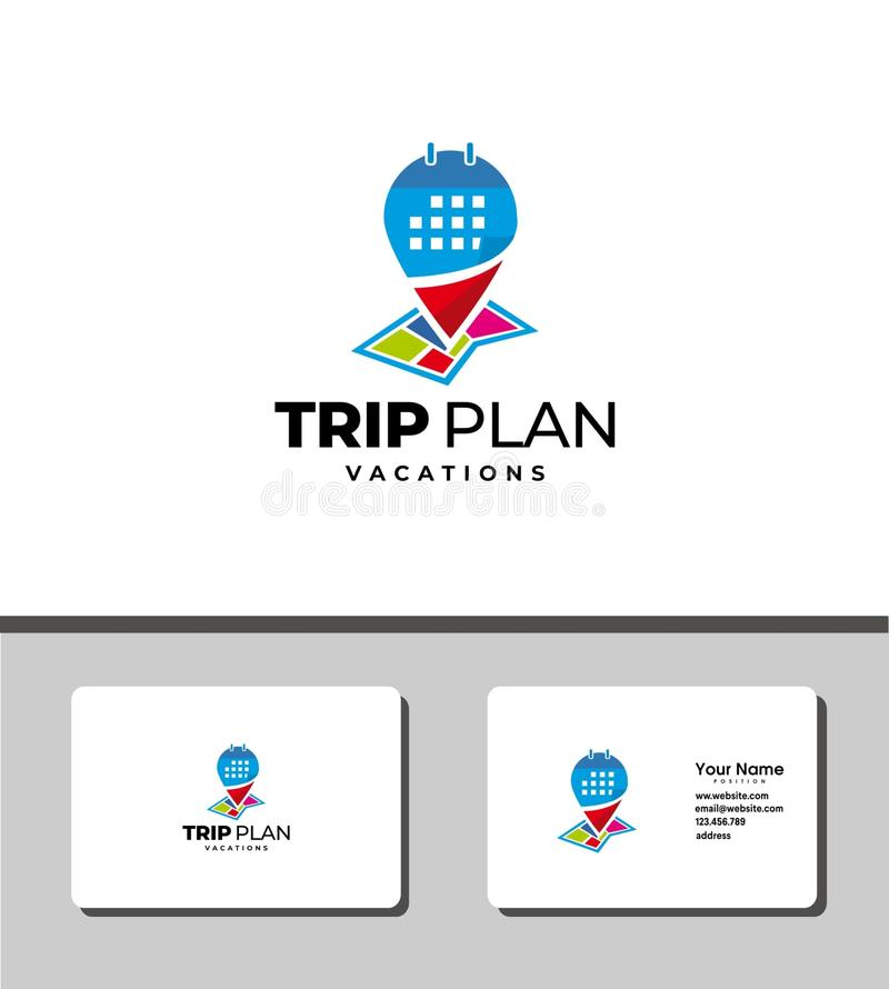 Trip plan logo stock photography