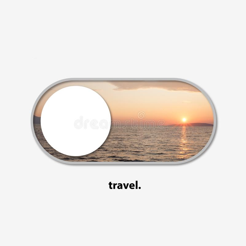 Trip switch for your trip dreams - turn the travel on royalty free stock photo