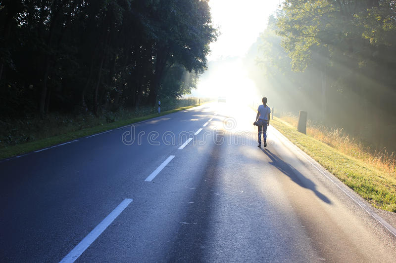 Trip to Europe, Germany. Driving on Central Europe, the German road royalty free stock photo