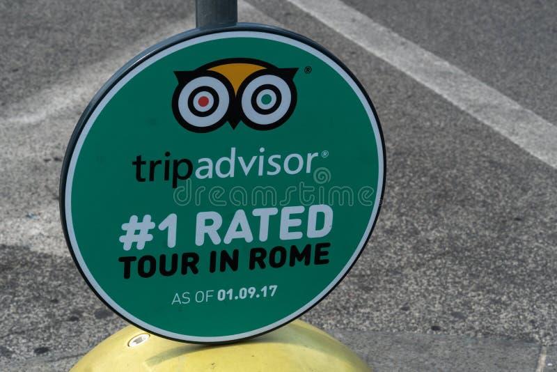 TripAdvisor emblem fotografering för bildbyråer