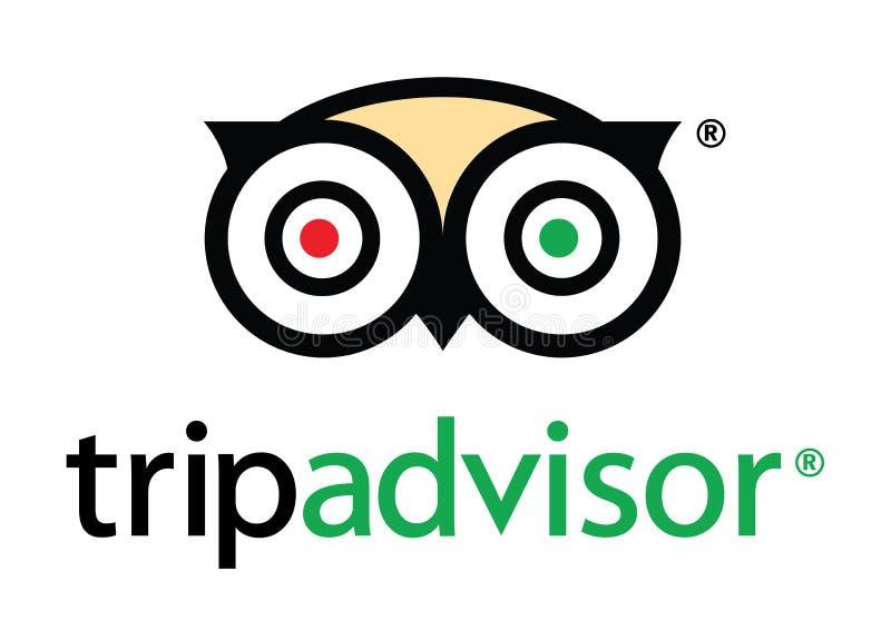 TripAdvisor logo ilustracja wektor