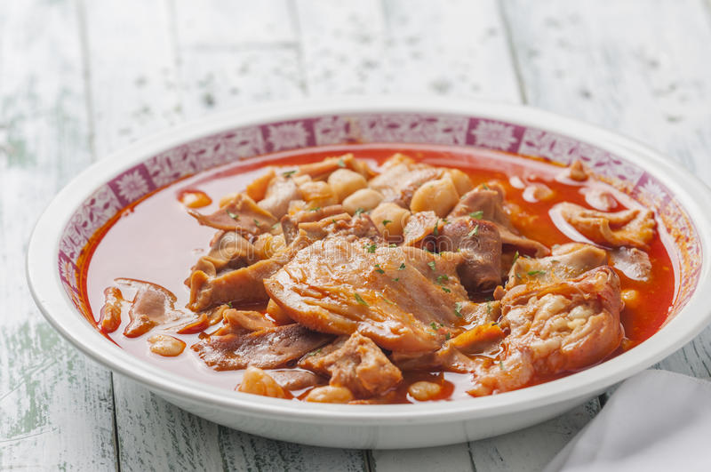 Tripe with chickpeas series 05 stock image