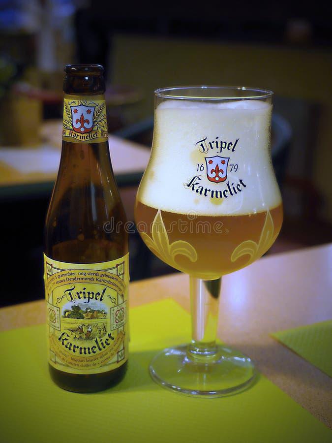 Tripel Karmeliet - Belgian beer stock images