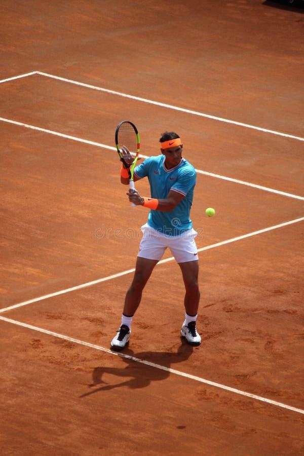 Triphosphate d'adénosine 2019 de Rome de tennis - Nadal contre Verdasco photos stock