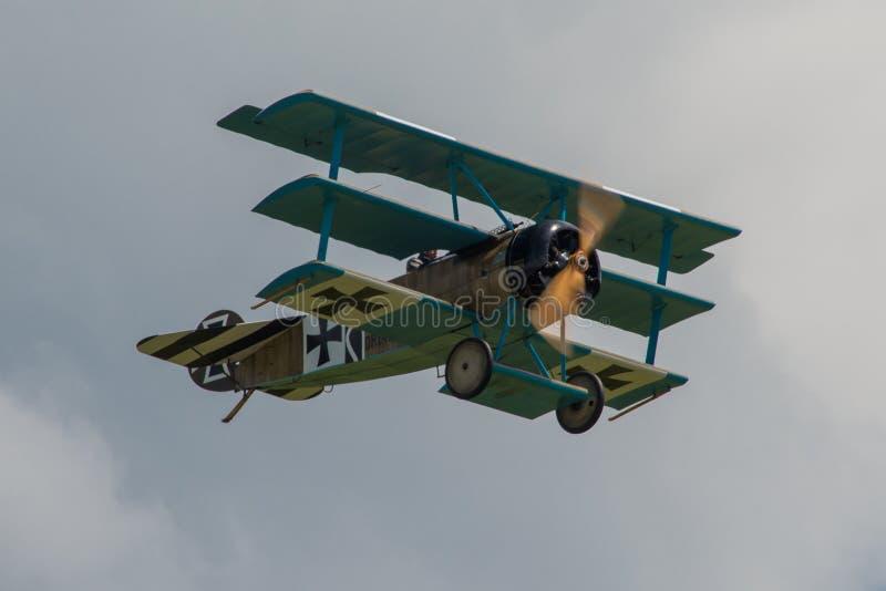Triplano de Fokker DR1 imágenes de archivo libres de regalías