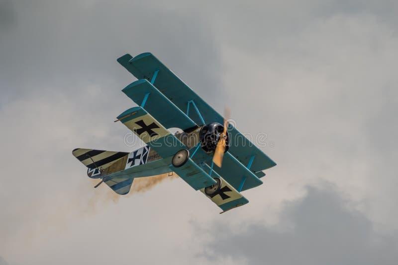 Triplano de Fokker DR1 imagenes de archivo
