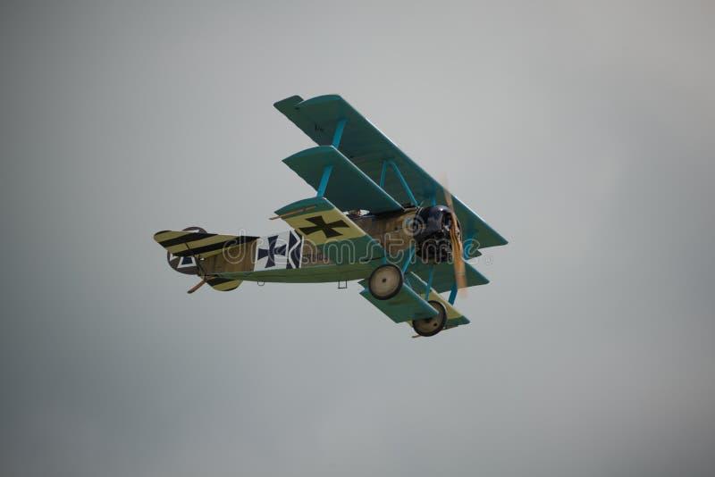 Triplano de Fokker DR1 fotos de archivo