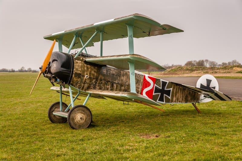 Triplano de Fokker en la exhibición fotografía de archivo libre de regalías