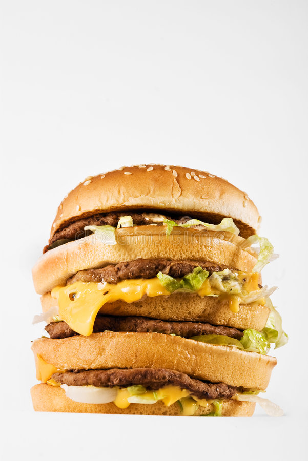 Download Triple cheeseburger stock image. Image of lettuce, beef - 9088531
