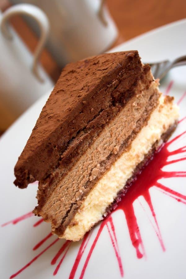 Triple choc cake royalty free stock image