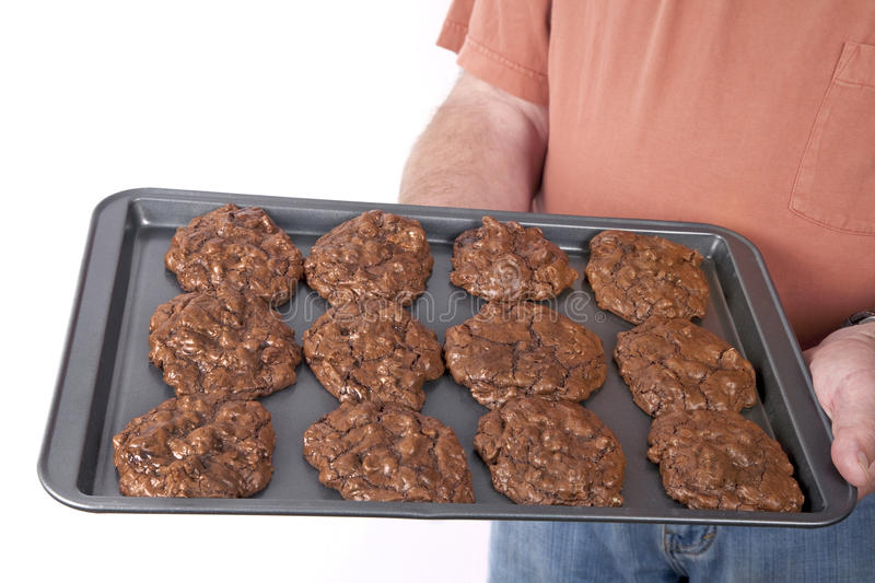 Download Triple Chocolate Cookies stock image. Image of sheet - 14594535