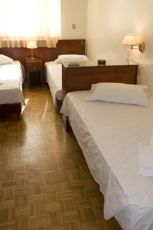 triple de chambre d'hôtel d'Athènes Grèce image libre de droits