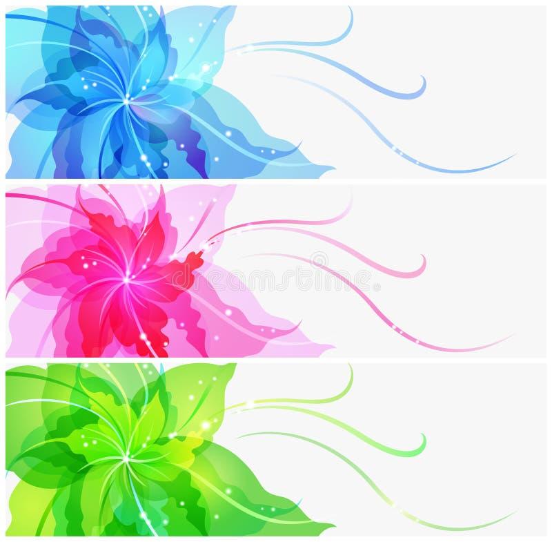 Download Triple EPS10 Colorful Flower Background Stock Vector - Illustration of blue, transparent: 26416567