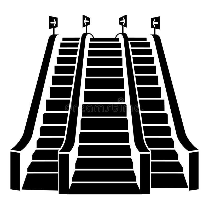 Triple escalator icon, simple style royalty free illustration