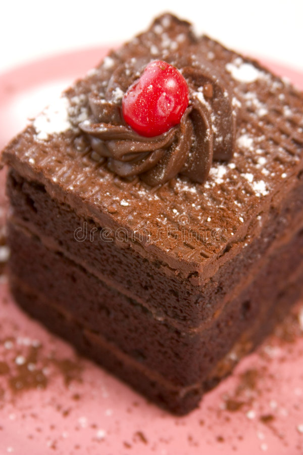 triple för cakechokladlager royaltyfria bilder