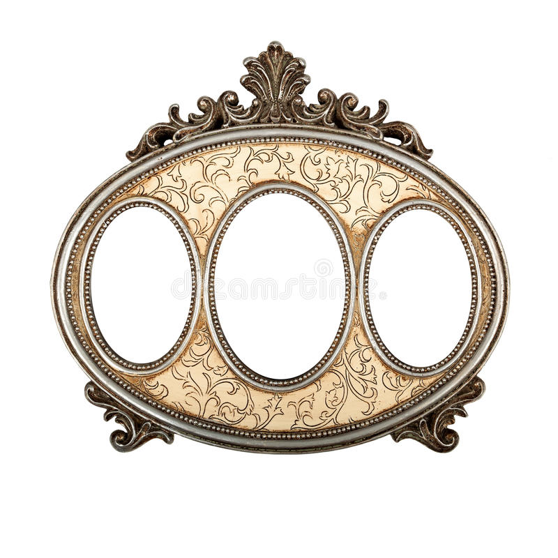Triple picture frame stock photos