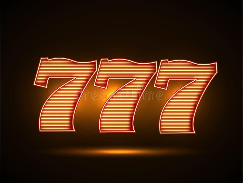 СеШельские Острова - Страница 32 Triple-seven-illustartion-glowing-font-65246617