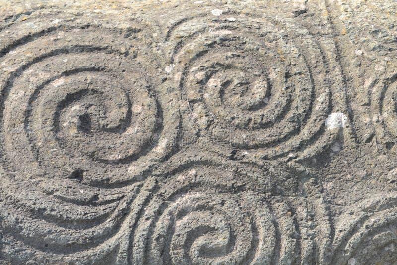 Download Triple spiral - Newgrange stock image. Image of eire - 35550173