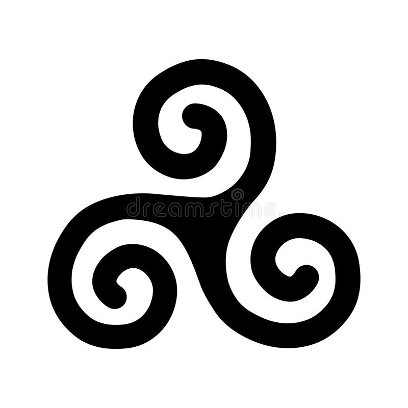 Triple Spiral vector illustration