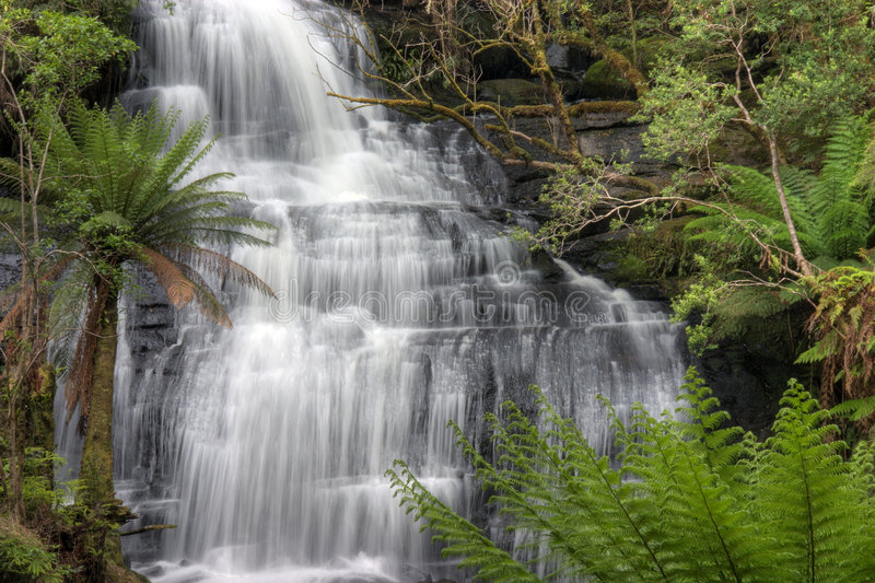 Triplet Falls. Triplet Falls, Great Otway National Park, Victoria, Australia royalty free stock photography