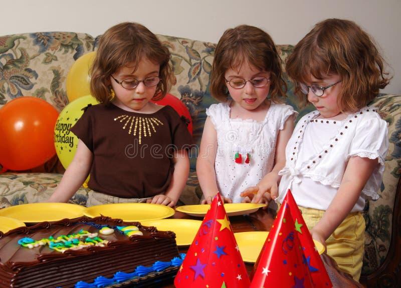 Triplets Birthday royalty free stock photography