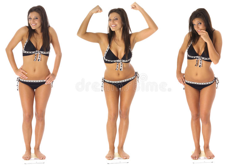 Tripletti di perdita di peso fotografia stock libera da diritti
