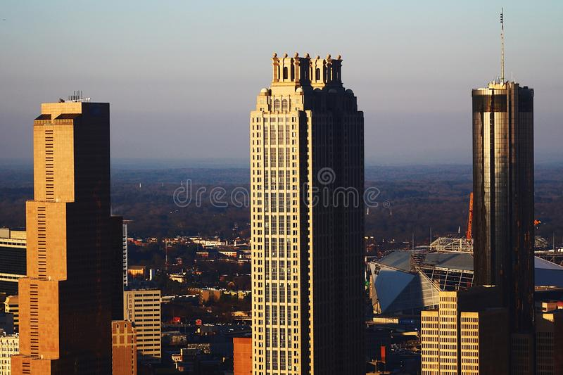 Triplicar-se de Atlanta fotos de stock royalty free