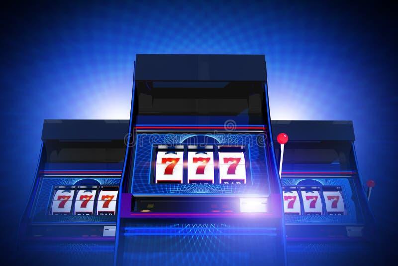 Triplicar-se sete entalhes do casino ilustração do vetor