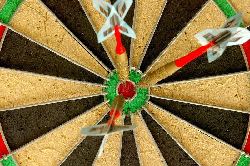 Triplique o bulls-eye foto de stock royalty free