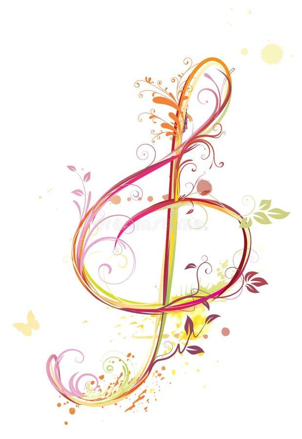 Triplique o clef ilustração royalty free