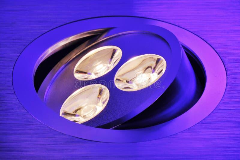 Triplo-diodo emissor de luz de Warmwhite imagens de stock royalty free