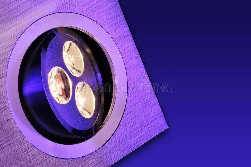 Triplo-diodo emissor de luz de Warmwhite imagem de stock