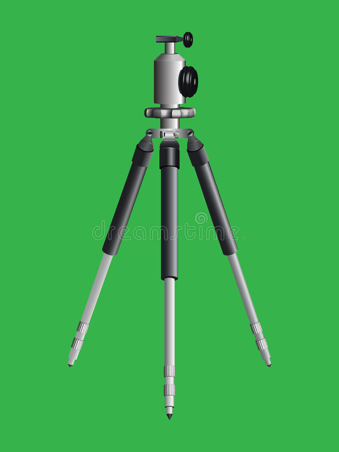 Download Tripod for camera stock vector. Image of green, photograph - 23299528