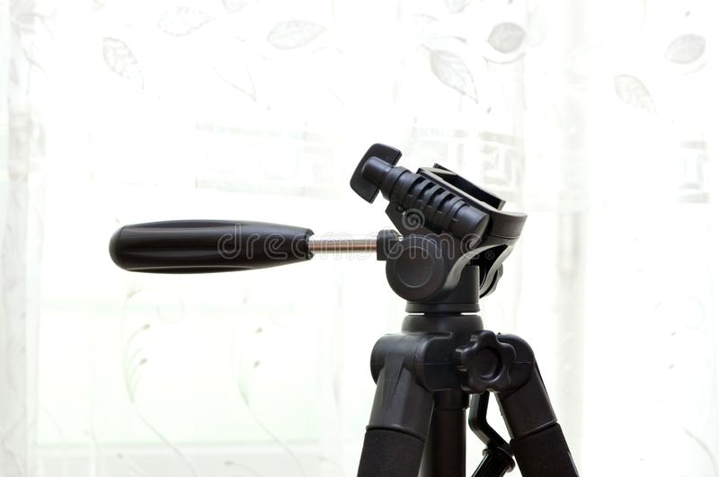 tripod head for photo and video shooting stock photography