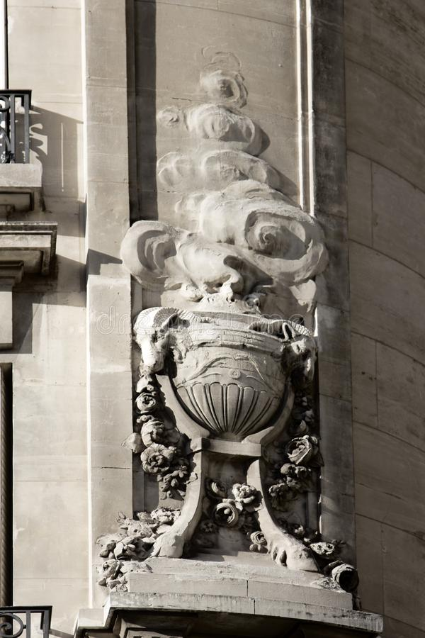 Element of architectural decoration. The tripod and the vessel of the Oracle, fortune-telling, the predictions in the fumes of the magic potion. Element of stock photos