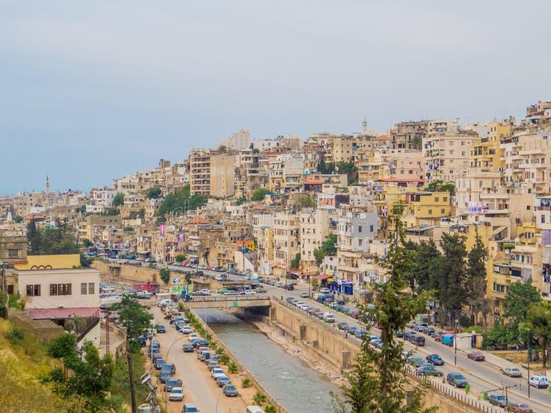 Tripoli, Lebanon. Aerial view of Tripoli, Lebanon royalty free stock photos
