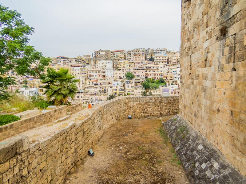 Tripoli, Lebanon. City aerial view from the Tripoli Castle stock images