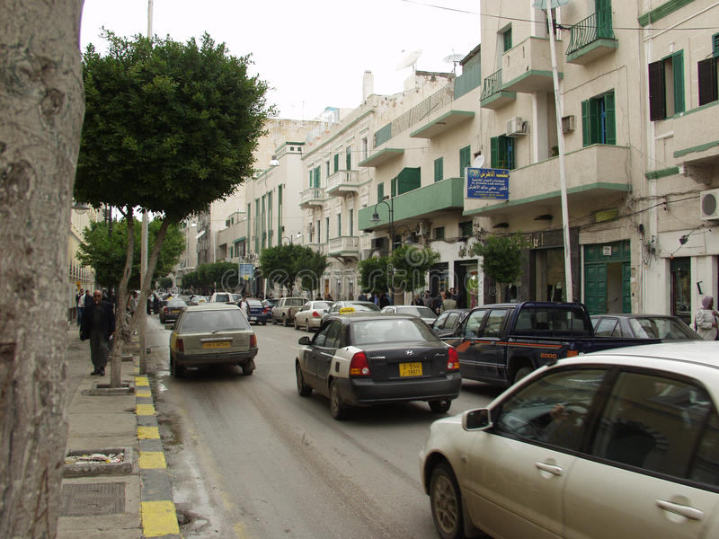 Tripoli streets. Tripoli capital of Libya the view of the streets in downtown stock photos