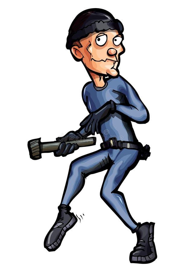 trippa för inbrottstjuvtecknad filmkatt vektor illustrationer