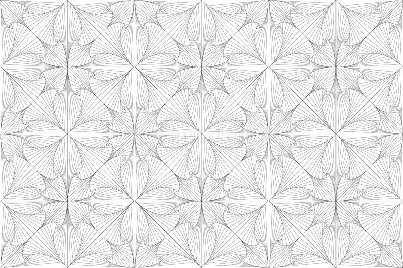 Trippy Abstract illustration lines 3d pattern royalty free stock photography