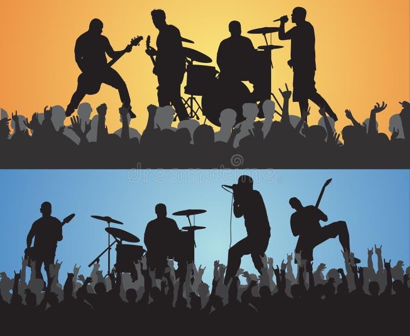 Trippy Concert stock illustration