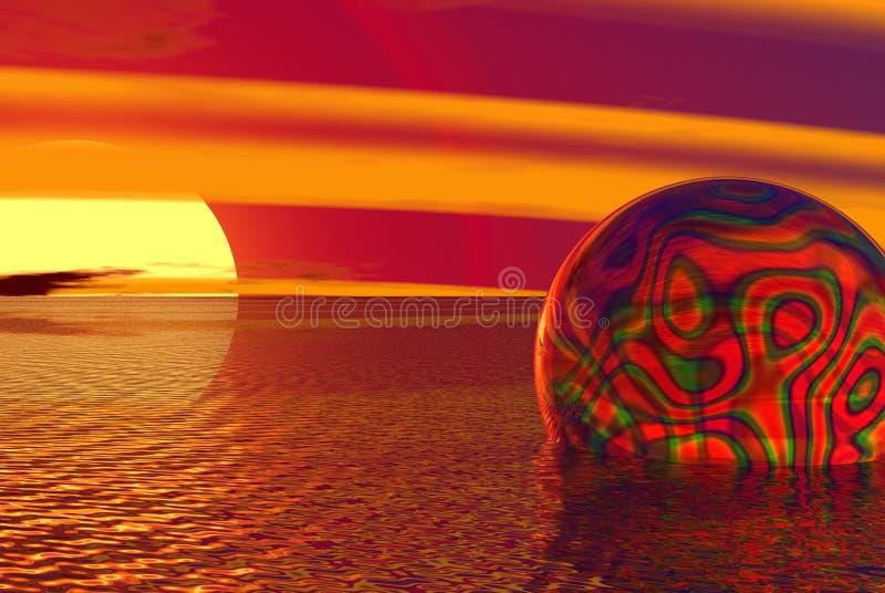 Trippy globe stock photo