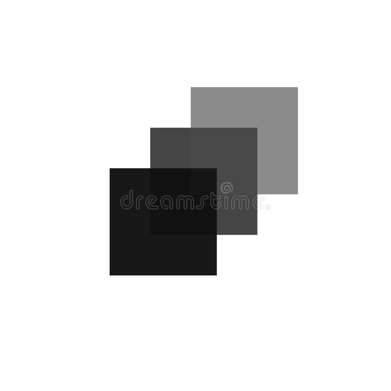 Triptychon des schwarzen Quadrats stockbild