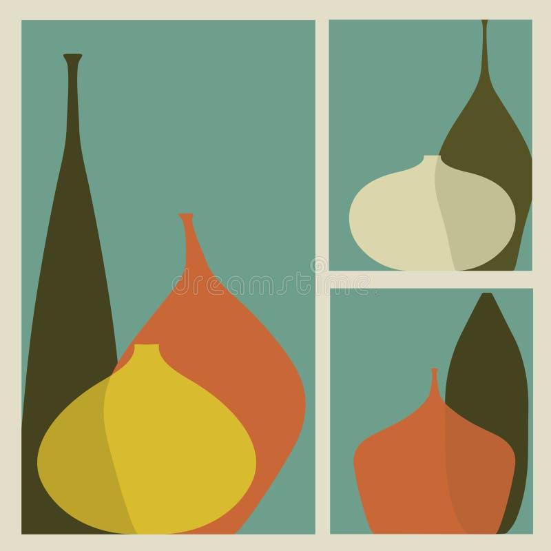 triptychvases stock illustrationer