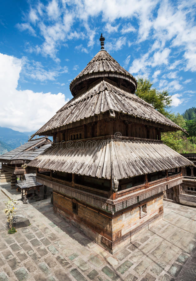 Tripura Sundari Temple. In Naggar, Himachal Pradesh, India stock photos