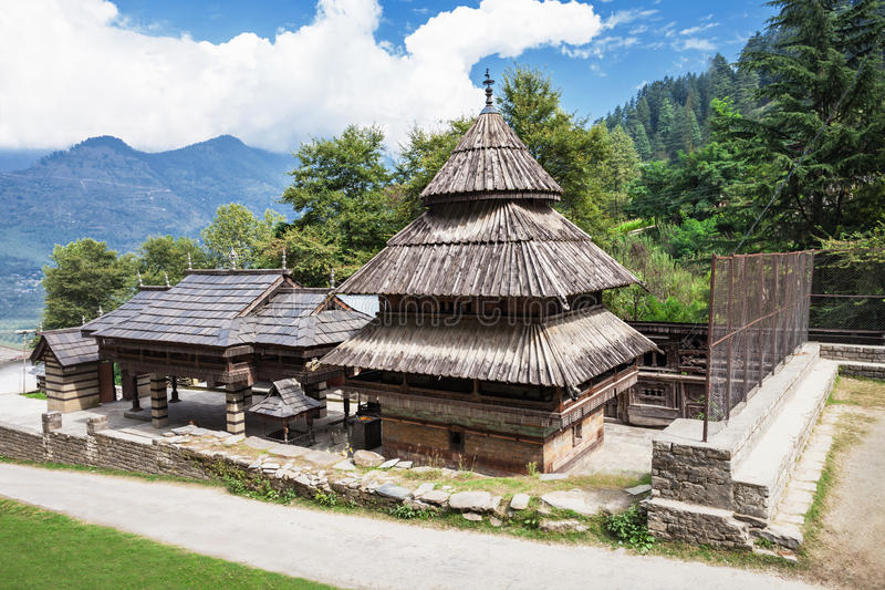 Tripura Sundari Temple. In Naggar, Himachal Pradesh, India royalty free stock photography