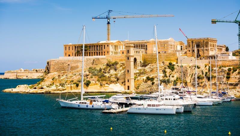 Triq-Jachthafen in Kalkara von Malta stockbild