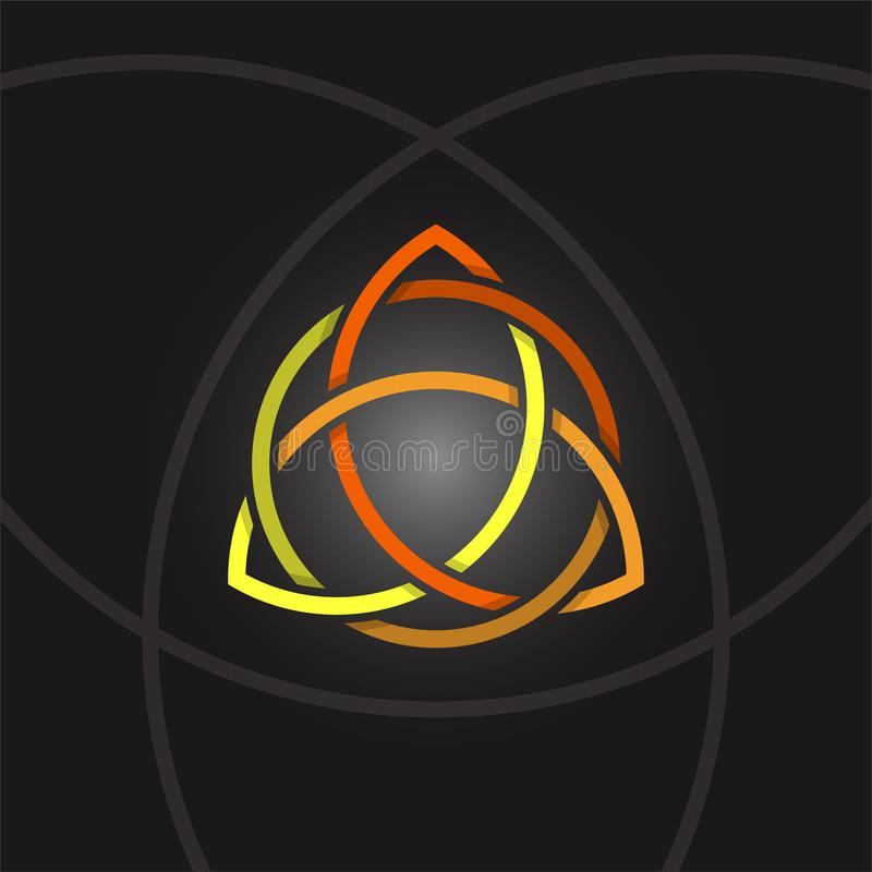Triquetra в круге, символе вектора трилистника обрядовом бесплатная иллюстрация